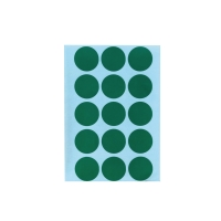 CIRCLE PAPER STICKER 20MM GREEN PACK OF 90