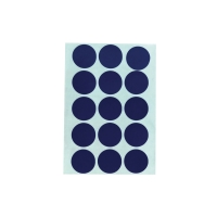 CIRCLE PAPER STICKER 20MM BLUE PACK OF 90