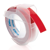 DYMO PLASTIC LABELS 9MM X 3M RED