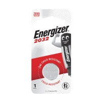 ENERGIZER CR2032 LITHIUM BUTTON BATTERY 3V