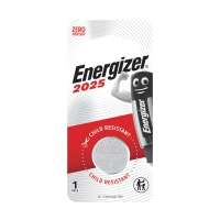 ENERGIZER CR2025 LITHIUM BUTTON BATTERY 3V