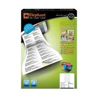 ตราช้างสติกเกอร์เจ็ทเลเซอร์#18-03070x36มม.24ดวง/แผ่น 1 แพ็คบรรจุ 100 แผ่น