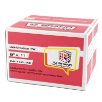 IQ CONTINUOUS PAPER 2 PLY PLAIN 9   X 11   - BOX OF 1,000 SHEETS