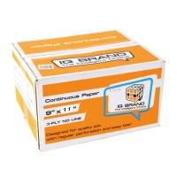 IQ CONTINUOUS PAPER 3 PLY PLAIN 9   X 11   - BOX OF 500 SHEETS ORANGE BOX