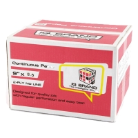 IQ CONTINUOUS PAPER 2 PLY PLAIN 9   X 5.5   - BOX OF 2,000 SHEETS