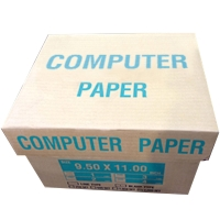 CONTINUOUS PAPER 4 PLY PLAIN 9.5   X 11   - BOX OF 500 SHEETS
