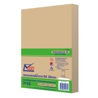 555 ซองเอกสารกระดาษคราฟท์น้ำตาล BA110 แกรม 7  x10   50 ซอง