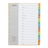 BENNON IX916 PLASTICDIVIDER A4 THAI LETTERS COLOURS