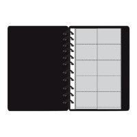 BINDERMAX สมุดใส่นามบัตรW-4098 400 ใบดำ