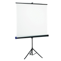 QUARTET TRIPOD MOUNTED PROJECTION SCREEN 1.75M X 1.75M