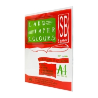 SB COLOURS CARDBOARD A4 120G - WHITE - PACK OF 100 SHEETS