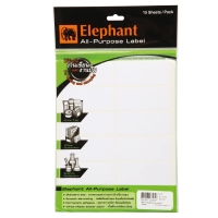 ELEPHANT A12 LABEL 34MM X 79MM 12 LABEL/SHEET - PACK OF 15 SHEETS