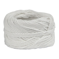 COTTON STRING BALL 30 TREAD 18 METERS WHITE