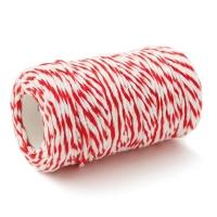 เชือกขาวแดง หนา 3 มิลลิเมตร ยาว 80 เมตร