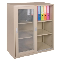 LUCKY LCG-9110 GLASS SLIDING DOOR CABINET CREAM