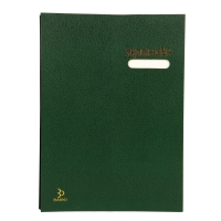 BAIPO SIGNATURE BOOK 26.5CM X 37CM - GREEN - 17 PAGES