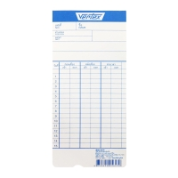 VERTEX TIME CARD PACK OF 100 CARDS