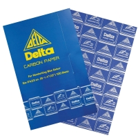 DELTA CARBON PAPER 21CM X 33CM - BLUE - PACK OF 100 SHEETS