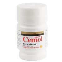 CEMOL ยาพาราเซตามอล ขนาด 500มก. 100 เม็ด
