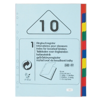 B-BIRD NK10 PLASTIC DIVIDERS 10 PAGES A4