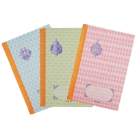 HARD COVER NOTEBOOK RULED 165MM X 245MM 55G 70 SHEETS - PACK OF 6