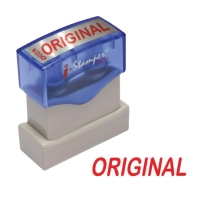 I-STAMPER O02A SELF INKING STAMP   ORIGINAL   ENGLISH LANGUAGE - RED