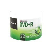 SONY แผ่น DVD+R 120 นาที 4.7 GB 16X บรรจุ 50 แผ่น