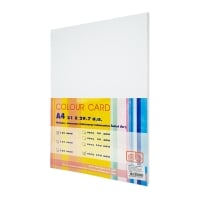 SB COLOURED CARDBOARD A4 120G - WHITE - PACK OF 250 SHEETS
