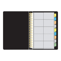 BINDERMAX สมุดใส่นามบัตร W-3098 A4 500 ใบ ดำ