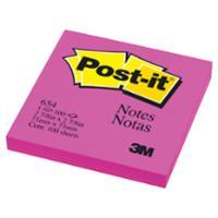 POST-IT กระดาษโน้ต 654 3   x 3   ชมพูบานเย็นสะท้อนแสง 100 แผ่น