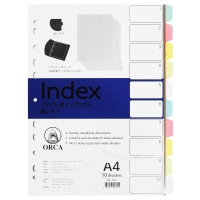 ORCA CLEAR PLASTIC DIVIDER INDEX A4 1-10