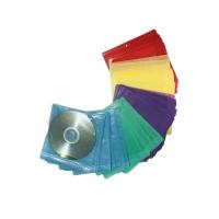ซองใส่ซีดี 2 แผ่น พลาสติก ฟ้า บรรจุ 50 ซอง