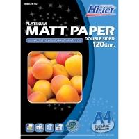 HI-JET กระดาษโฟโต้อิงค์เจท แบบเนื้อด้าน 2 หน้า A4 120 แกรม 1 แพ็ค บรร