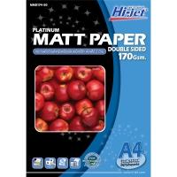 HI-JET กระดาษโฟโต้อิงค์เจทเนื้อด้าน2 หน้าNM174-50 A4170 แกรม1แพ็ค บรรจุ 50 แผ่น