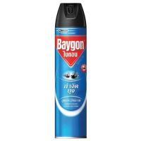 BAYGON สเปรย์กำจัดแมลง สูตรกำจัดยุงและแมลงบิน 600มล