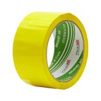 THAI KK เทปปิดกล่อง OPP กาวอะคริลิค ขนาด 2 นิ้ว X 50 หลา แกน 3 นิ้ว เหลือง