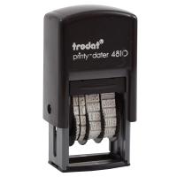 TRODAT TR-4810/E SELF INKING DATE STAMP ENGLISH LANGUAGE BLACK