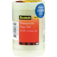 SCOTCH 500 CLEAR TAPE 3/4   X 36 YARDS 3  CORE - PACK OF 8
