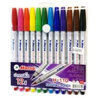 HORSE H-110 SIGNING PEN 1.0MM ASSORTED COLOURS - PACK OF 12