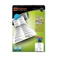 ELEPHANT 18-038 JET LASER LABEL 38MM X 21.2MM 65 LABELS/SHEET - PACK OF 100