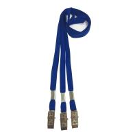 FLAT LANYARD BLUE - PACK OF 10