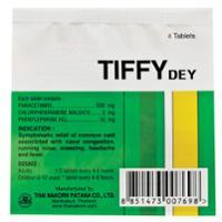 TIFFY DEY ยาลดไข้ขนาด 500 มก. 100 เม็ด