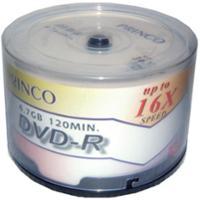 PRINCO แผ่น DVD-R 120 นาที 4.7 GB 16X PRINT 50 แผ่น