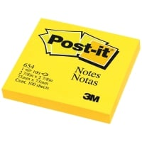 POST-IT 654 NEON NOTES 3   X 3   - NEON YELLOW