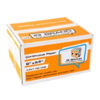 IQ CONTINUOUS PAPER 3PART PLAIN 9  X5.5 BOX OF 1000 SHEETS