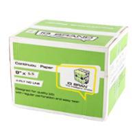 IQ CONTINUOUS PAPER 4PART PLAIN 9  X5.5 BOX OF 1000 SHEETS