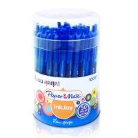 PAPERMATE INKJOY 100RT COLOR BALL PEN 0.5MM BLUE - PACK OF 50