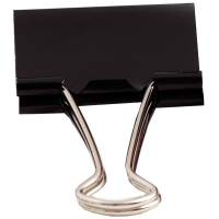 109 DOUBLE CLIPS BLACK - BOX OF 12