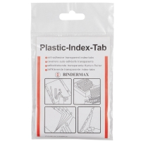 BINDERMAX IT-010P PLASTIC INDEX TAB 1   X 0.5   - PACK OF 20