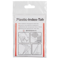 BINDERMAX IT-015P PLASTIC INDEX TAB 1.5   X 1.5   - PACK OF 15